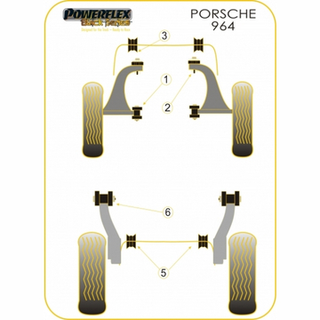 Powerflex Porsche 964 Querlenkerlager Set